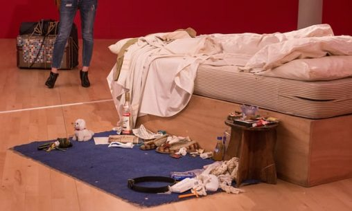 How do your hands know where to reach?: Tracey Emin's recreated My Bed. Photograph: Richard Stonehouse/Getty Images